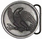 Eagle Round Belt Plate Belt Buckle with display stand. Code MG8